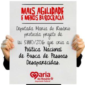 PL Política Nacional de Busca de Pessoas Desaparecidas