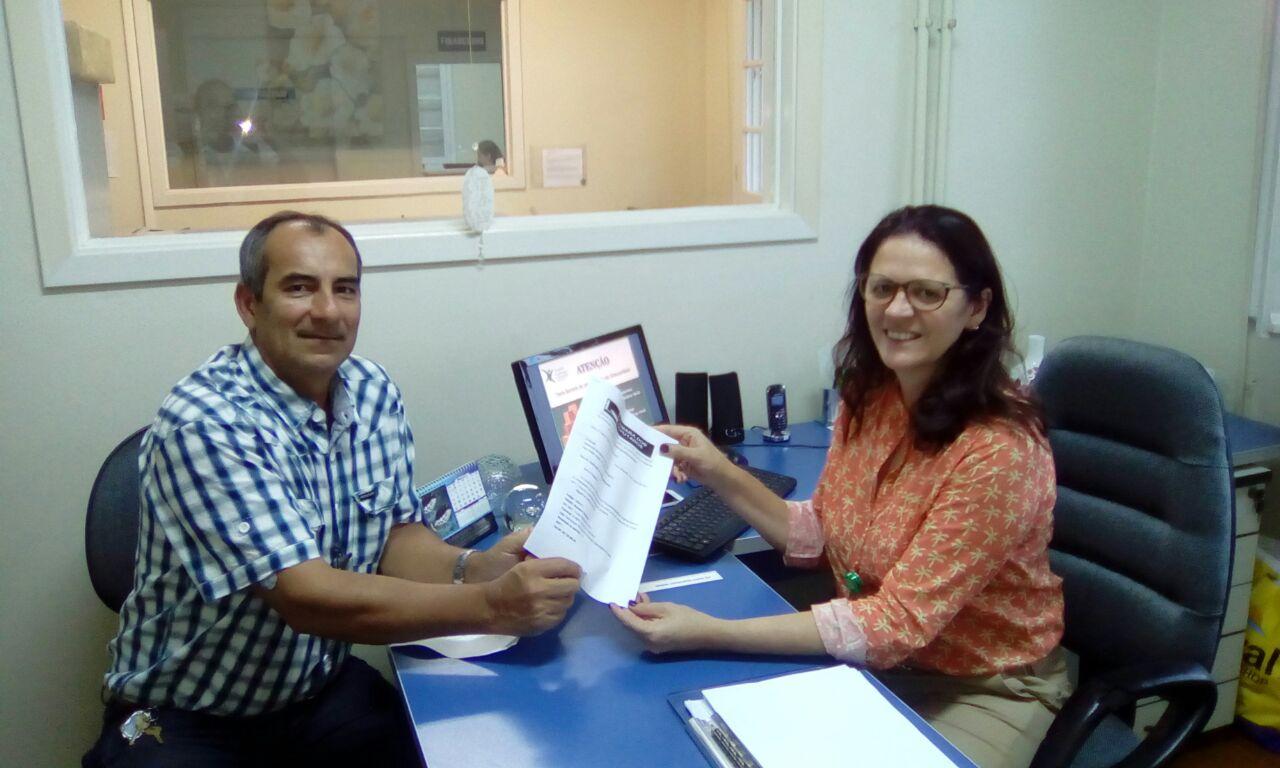 João Moraes entrega emenda do mandato para Sapiranga. Foto: Divulgação