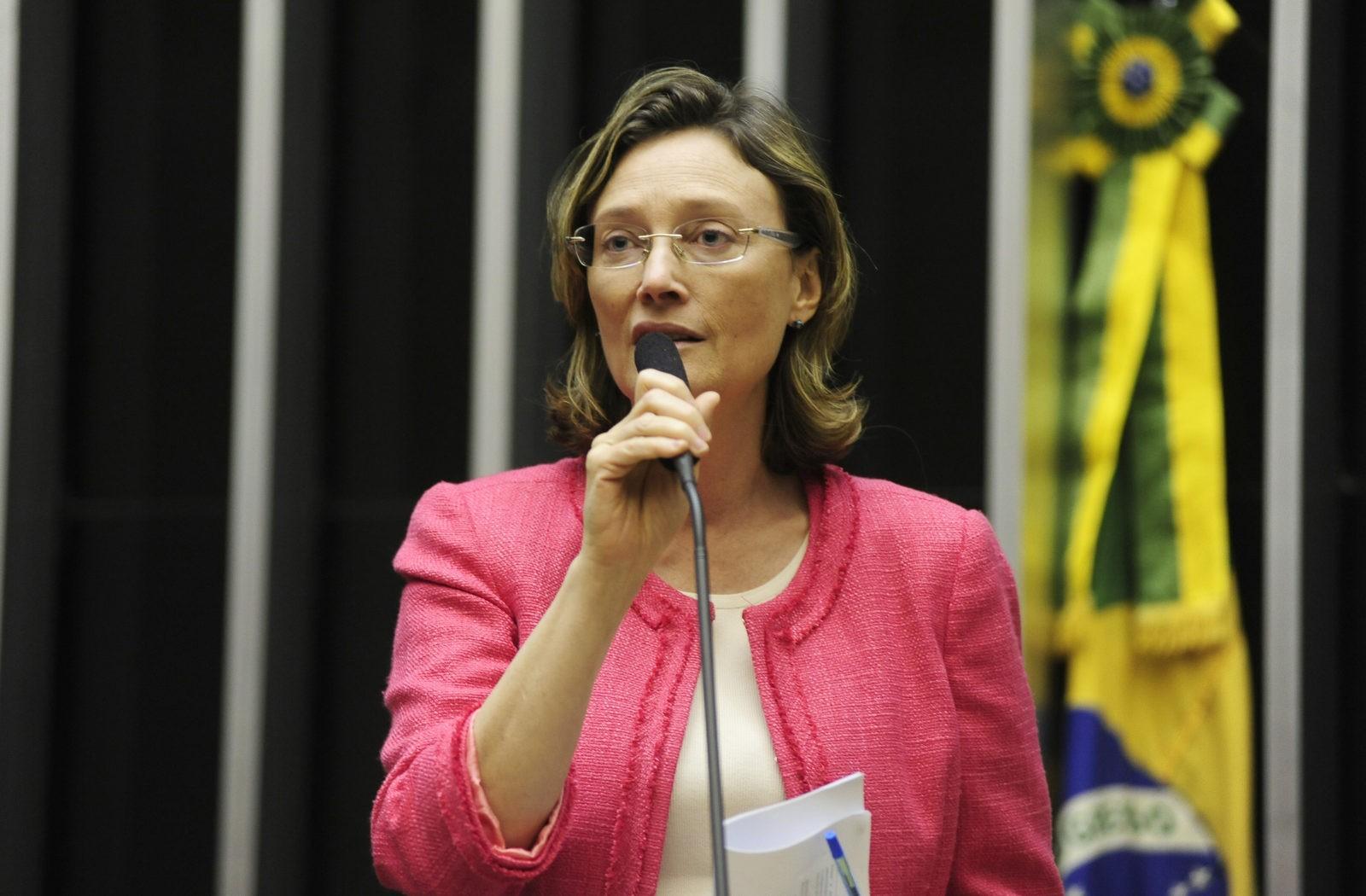 Maria do Rosário no plenário da Câmara. Foto: Gustavo Lima / Câmara dos Deputados